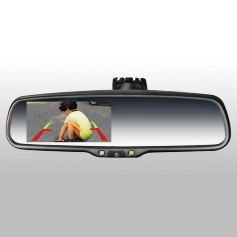Espejo retrovisor con pantalla