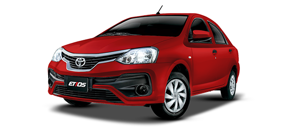 Toyota Etios Red Metallic Mica 2018