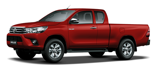 Toyota Hilux Extra Cabina CRIMSON SPARK RED METALLIC 2018